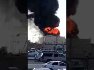 حريق هائل بمحطة كهرباء في الرياض (فيديو)