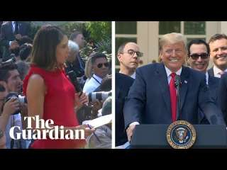 ترامب ينفعل على صحفية: «عمري ما شربت خمرة» (فيديو)