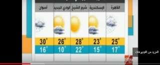 الأرصاد: غدا.. ذروة انخفاض درجات الحرارة وسقوط أمطار (فيديو)