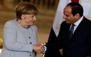الرئيس السيسي يلتقي ميركل ..ويؤكدان علي قوة الروابط المصرية الألمانية