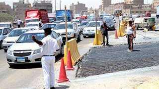 إغلاق كلي لطريق الأوتوستراد عند كوبري التونسي لمدة يومين