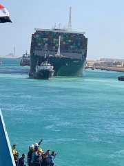 السفينة «إيفر جيفين» تغادر قناة السويس بعد احتجازها لأكثر من 3 اشهر