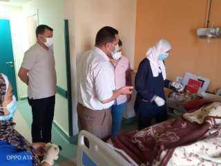 وكيل الصحة بالمنوفية يتفقد مستشفى الباجور لعزل حالات كورونا
